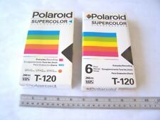 Polaroid Supercolor Videocassette T-120 Tapes Lot of 2 new