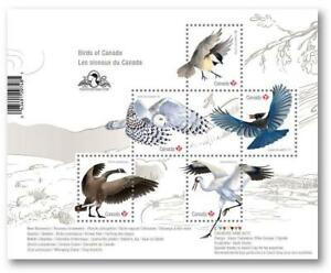2018 CANADA Post 🦅🕊🦉 BIRDS INSCRIPTION Souvenir Sheet 🦅🕊🦉