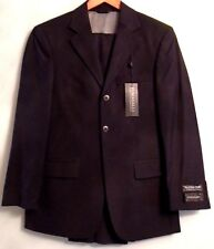 NWT Fumagalli, Black 100% Worsted Wool Italian Design Suit Size 36 Short (S-02)