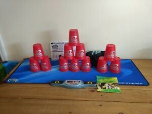 SPEED STACKS BUNDLE 12 RED CUPS 1 STACKMAT 1 TIMER 1 CUP KEEPER 1 DVD EXC COND