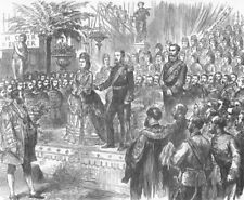 IRELAND. Duke of Edinburgh, Dublin Exhibition, antique print, 1872