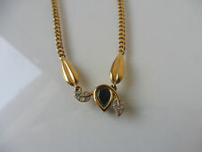 beautiful chain___leaf & blue stone __43 cm__gold plated __Pierre Lang_