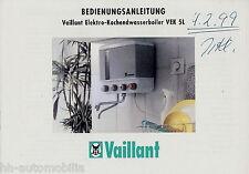 Bedienungsanleitung Vaillant VEK 5L Elektro-Kochendwasserboiler 1997 manual