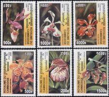 Cambodge 2000 Orchidées/Fleurs/Plantes/nature 6 V Set (s5336)