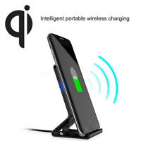 QI Wireless Fast Charging Charger Dock Stand Holder For iPhone 8 X Samsung Lot