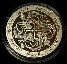 IRELAND: IRISH CELTIC  CULTURE 10 EURO SILVER PROOF  2007. UNC.FREE SHIPPING