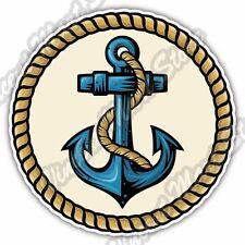 """Anchor Nautical Captain Ship Sea Gift Idea Car Bumper Vinyl Sticker Decal 4.6"""""""