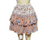 Joie Mini Skirt M Floral Printed Ruffle Gather Elastic Elastic Tie Knot Nw 13400