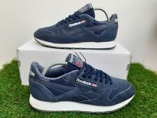 Reebok Classic Men's Trainers Size UK 8 Navy Blue Suede