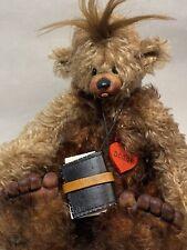 OOAK Woody Joggi  Mohair Bear by  Ruth Heer Little Heartbreakers Switzerland