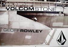 Volcom 2004 Geoff Rowley B&W skateboard promo poster Flawless New old stock