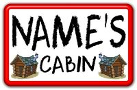 Personalised Childrens Metal Name Plate for Little Tikes Playhouse/Cottage Etc.
