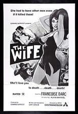 THE WIFE * CineMasterpieces MOVIE POSTER 1973 ADULT X RATED PORN SEX SEXY GIRL