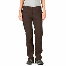 CRAGHOPPERS Womens Cocoa Brown NosiLife Lightweight Trousers UK 20 Long BNWT