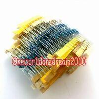 600pcs 30 Values 1/4W 0.25W 1% Metal Film Resistors Assorted Pack Kit Set Lot