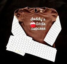 "NEW GYMBOREE ""SWEET TREATS"" 2 PIECE OUTFIT-SAYS ""DADDY'S LITTLE CUPCAKE""-NWT"