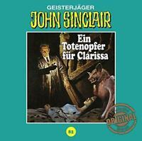EIN TOTENOPFER FÜR CLARISSA - JOHN SINCLAIR TONSTUDIO BRAUN-FOLGE 82   CD NEW