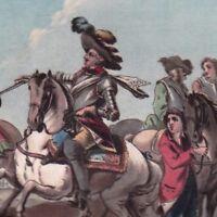 Gravure XVIIIe De Salignac De La Mothe Fénelon Terres De Cambrai Duc Marlborough
