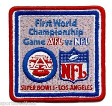 SUPER BOWL 1 Packers / Chiefs OFFICIAL SB I 1967 Willabee & Ward NFL PATCH ONLY