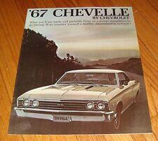 Original 1967 Chevrolet Chevelle Sales Brochure Chevy SS 396 Malibu