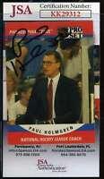 Paul Holmgren JSA Coa Hand Signed 1990 Pro Set Autograph