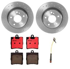 POWER PERFORMANCE DRILLED SLOTTED PLATED BRAKE DISC ROTORS P3185 FRONT