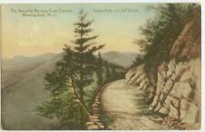 c1915 Blowing Rock North Carolina Sunset Rock on Cliff Drive