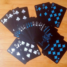 Hot 54Pc/Deck Black Poker Waterproof Playing Cards Set Classic Magic Tricks Tool