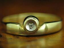 14kt 585 Giallo Anello con diamante solitario guarnizione in/1,2g/RG 59,5