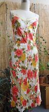 *PLENTY by TRACY REESE* Lovely Island Tropical Dress Greek Key Sz P Silk
