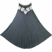 Unbranded Cotton Calf Length Plus Size Skirts for Women
