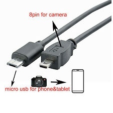 OTG CABLE for Nikon Coolpix D7100 D5300 D5200 D5100 D3300 D3200 S9500 UC-E16 E17
