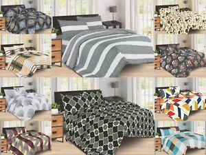 Duvet Cover Sets Designer 4 pc Bedding Set Printed Collection With Pillowcases