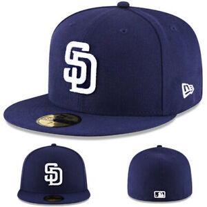 New Era San Diego Padres 5950 Fitted Hat MLB Authentic Home Navy Blue Cap