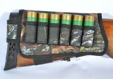 New Shotgun Shell Buttstock Holder Cover Holds 6 shells 12 ga - Hunting