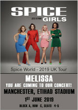The Spice Girls Spice World Tour 2019 Ticket Card Show Concert Tickets Birthday