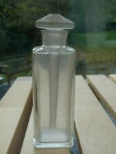 Small Antique Scent Bottle with Lalique Style Stopper - 1930's