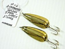 2 - Unbranded Golden Spoon Fishing Lures
