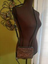 $42 NWT Madden Girl Rose Gold Wallet on a String Crossbody evening bag purse