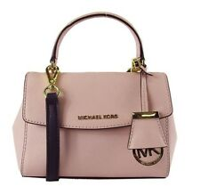 "** MICHAEL KORS ""AVA"" Soft Pink Saffiano Leather  Crossbody Bag Msrp $178.00"