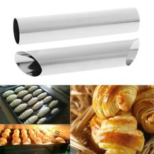 1/ 5pcs Stainless Steel Cannoli Cream Tubes Shells Horn Mould Pastry Baking Mold