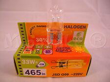 Halogen HALOPIN lamp bulb G9 33W ~220V 465 Lm 43W economic ECO GREEN SAVER 30%
