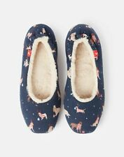 Joules Womens Dreamwell Slip On Slippers - XMAS DOGS