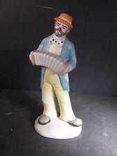 Flambro Emmett Kelly Jr. Hobo Clown with accordion