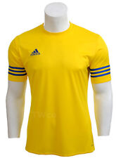 Entrada 14 adidas Training Shirt Men Climalite Short Sleeves XL X Large Yellow - F50489