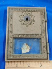 #67 Brass US Post Office Mail Box Door 1960s Ranco Glass VTG Letters Cabinet