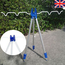 Outdoor Fishing Rods Tripod Stand Rest Sea Beach Shore Pier Tackle Telescopic