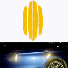 4x Yellow Reflective Car Door Edge Protector anti-collision Guard Sticker Strip