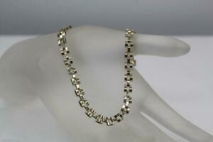 "Fine 10K Yellow Gold 5mm Narrow Rolex Style Link Chain Bracelet 5.4 Grams 8.5"""