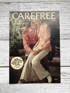 Vintage Carefree Patterns From McCall's Mini Catalog 1970's Housewife Sewing